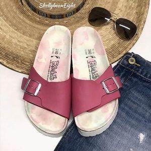BIRKENSTOCK 1Band Madrid Sandals FLORAL FOOTBED 6N